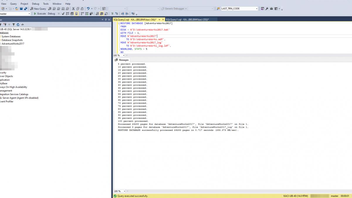 SQL SERVER – SQL Server Örnek Veritabanlarını İndirin ve Yükleyin (2019 için)